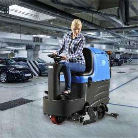 车库环氧地坪面用驾驶式容恩全自动洗扫一体机R-QQR