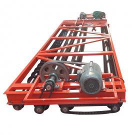 混凝土三滚筒震动梁 3辊轴桥面振动摊铺机 自行式混泥土摊铺机