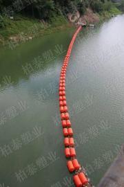 闸门口围栏塑料浮筒 两半片加镀锌网浮体