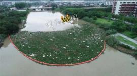 河面水草水葫芦拦截器 拦截垃圾设备图片