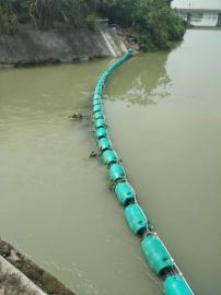 河道桥下青苔浮莲拦截浮筒批量生产