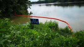 河道清渣塑料拦截漂 防护垃圾浮筒