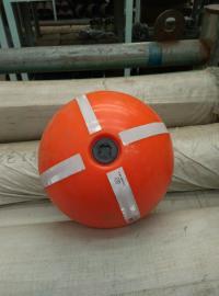 淡水水域带灯警示浮球 通孔穿绳浮子