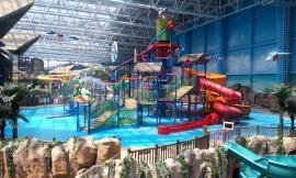 大中小水上乐园 儿童水乐园 多彩滑道 大喇叭 游玩设备