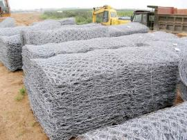河道治理60g普通上锌量石笼网-镀锌铅丝石笼网应用范围