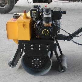柴油小型单钢轮压路机 路面压实机 单轮夯实振动压实机
