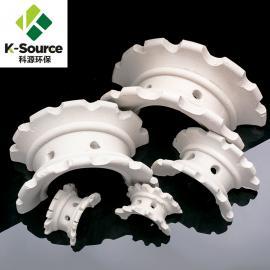 科源环保 陶瓷异鞍环填料 耐酸耐碱优质陶瓷填料/化工填料