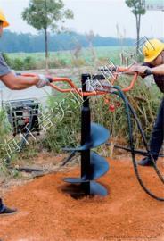 威平WPE-20液压地钻 挖坑机 打孔机 地面钻孔机