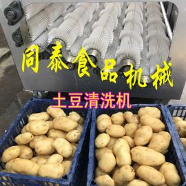 TQX-2200-6型电动螺旋毛刷土豆水洗机