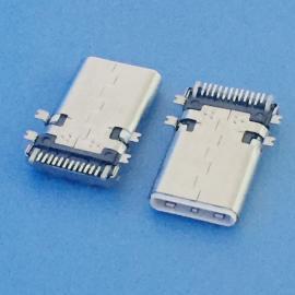 USB 3.1 TYPE-C 贴板公头 24P 四脚贴板 白胶 加长款 贴片公头