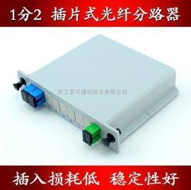 PLC插片式/插卡式光分路器(1分2,1比2,1:2分光器)