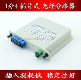 PLC插片式/插卡式光分路器(1分4,1比4,1:4分光器)