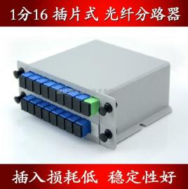 PLC插片式/插卡式光分路器(1分16,1比16,1:16分光器)