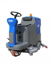 清洗地坪漆地面用洗地机|工厂停车库用双刷驾驶式洗地机