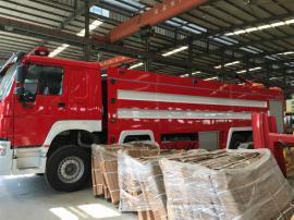 豪沃前四后八24吨泡沫消防车质优价优 消防车厂价出售