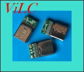 铆压式2.0-TYPE C带板母座-冲压不锈钢壳-短体TYPE C充电母头