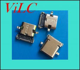两脚沉板2.0-DIP-TYPE C 24P母座-前插后贴 有柱 编带