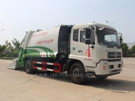 东风天锦12方后装式全密封压缩垃圾车