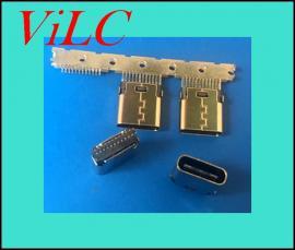 24P卡板SMT-TYPE C夹板母座-无固定脚=PIN距加宽