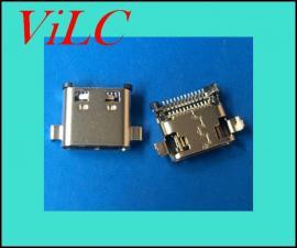 沉板双贴USB3.1母座-24P破板式TYPE C母头-二脚破板
