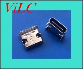 单排12-16P贴片 -板上型沾板/TYPE C母座 四脚插板 带定位柱