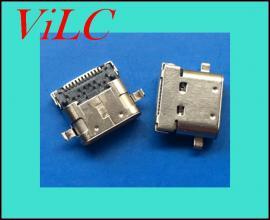 双壳TYPE C母座-24P 短体8.65-USB3.1母头-有柱