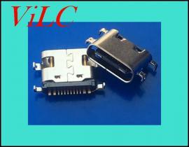 四脚沉板-TYPE C母座/破板1.6-短体USB3.1插座-16P后贴SMT