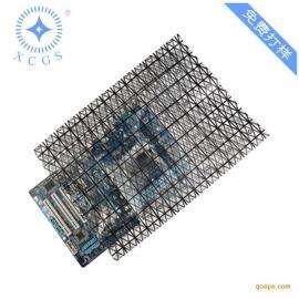 网格导电袋定制 电子元器件防静电包装 PE黑色网格自封袋