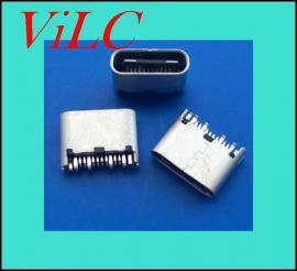 超短体夹板TYPE C母座-超短焊线式USB 3.1插座 L=6.5MM