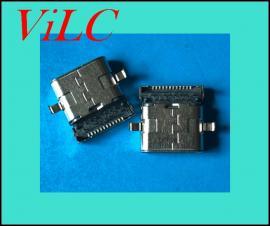 二脚沉板-双壳TYPE C母座/24P前插后贴-有柱/破板1.6TYPE C母头