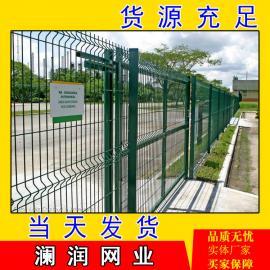幼儿园围墙护栏网铁路围栏 圈地护栏车间隔离网桃型柱