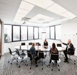 商务办公楼专用岩棉玻纤降噪板