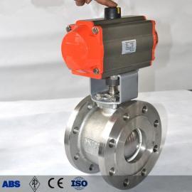 不锈钢对夹V型气动球阀 VQ647F/H硬密封软密封气动V型球阀