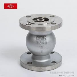 H42W,H42H不锈钢立式止回阀、逆止阀,不锈钢止回阀