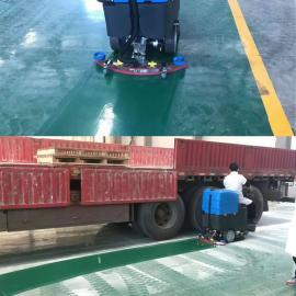 商场用驾驶室洗地机乐普洁L80BT56水刷除污拖地机充电式刷地机