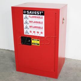 12加仑可燃液体防火安全柜红色防火防爆柜化学品柜
