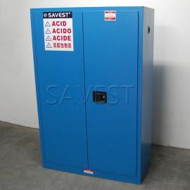 45加仑弱腐蚀性液体防火安全柜蓝色化学品柜工业安全柜