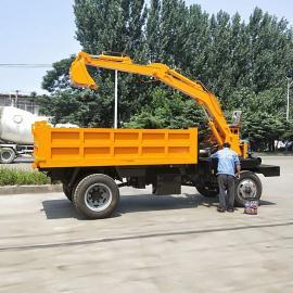农用随车挖掘机 四轮车改装后勾机一体