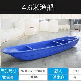 4.6米加厚塑料船渔船3米4米5米6米牛筋双层船养殖打捞船冲锋舟船