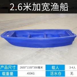 加厚塑料船钓鱼船捕鱼船冲峰舟观光船塑料渔船马达