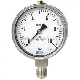 波登管压力表 型号232.50, 233.50|威卡 全不锈钢材质