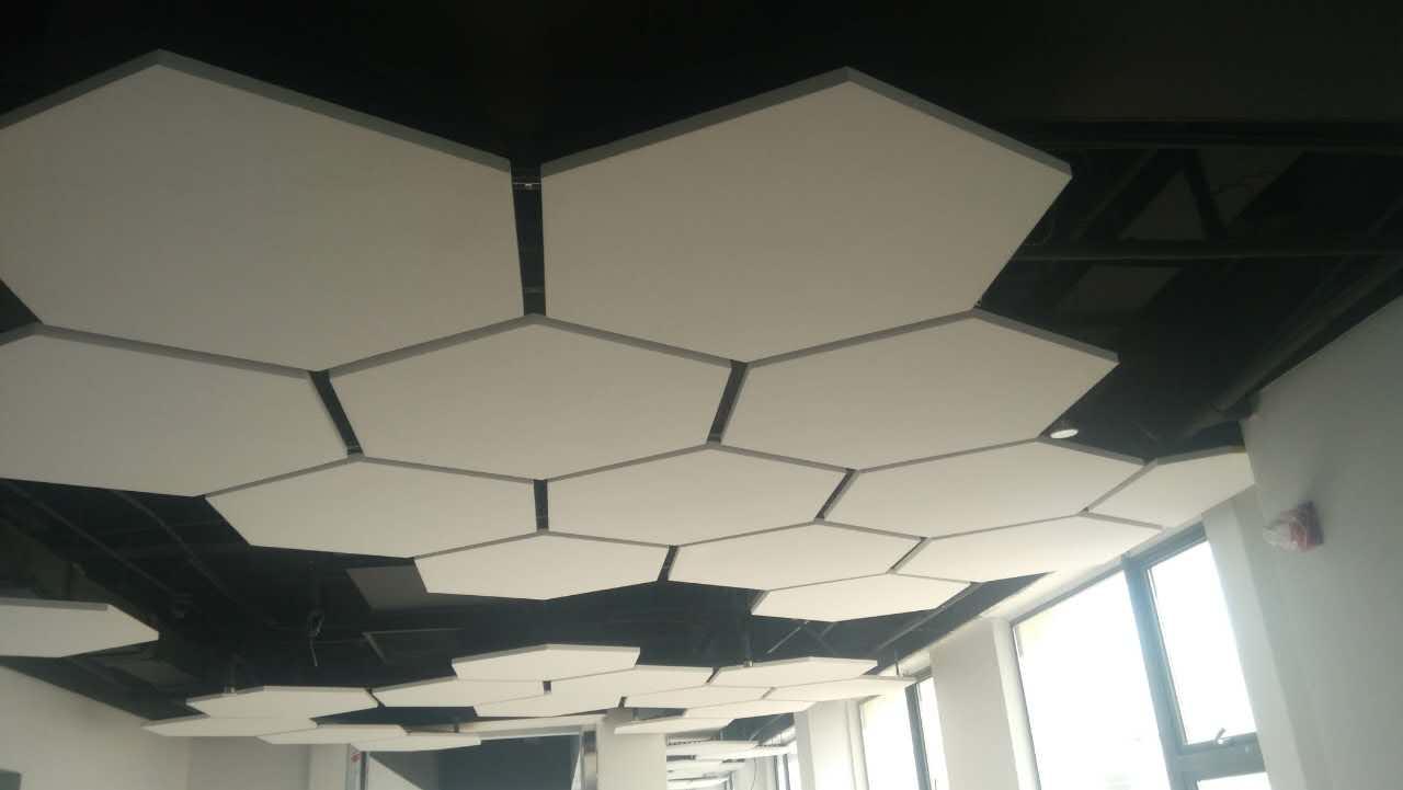 音乐教室吸音专用 岩棉玻纤吊顶垂片