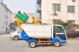 垃圾压缩式清运车 社区物业用 新款后装式环卫四轮小型垃圾清运车