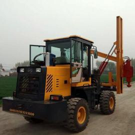 公路护栏打桩机 装载式波形护栏打桩机