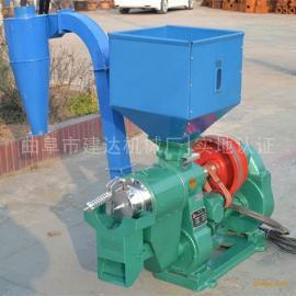 水稻脱壳碾米机 柴油机带双风道铁辊碾米机