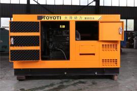 120KW静音柴油发电机带电焊机施工