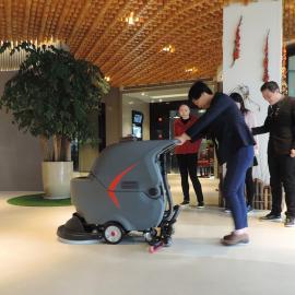 浦东医院学校单位用静音洗地机节能全自动大刷盘洗地机22寸