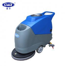 威卓手推式洗地机WZ-X2b工厂用电瓶式擦地机