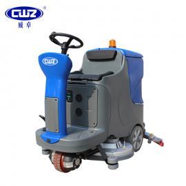 威卓驾驶式洗地车X7-70大型商场用洗地吸干机