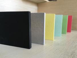 黑色岩棉吸声板 电影院装饰吸音专用 屹晟建材 吊顶降噪岩棉板